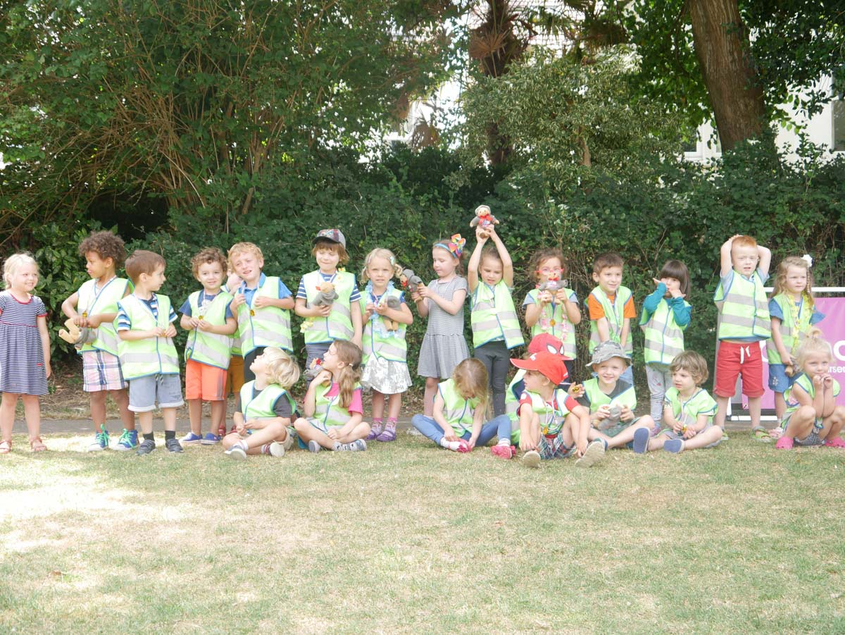 Hove Village Pre-School Children in Park