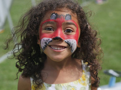 Hove Village Sponsoring Wishfest Girl Face Painted