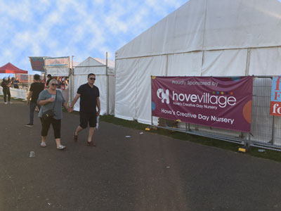 Hove Village Sponsors the Foodies Festival Hove