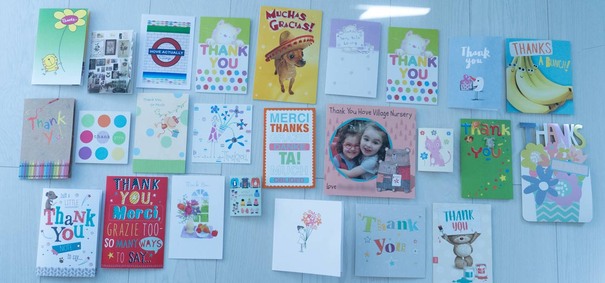 Hove Village Day Nursery Thank You Cards